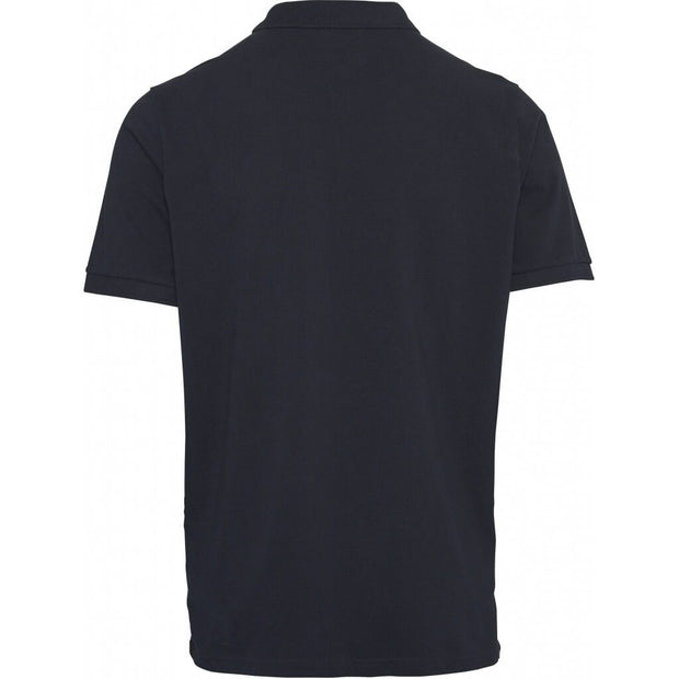 Polo-Coton-Bio-Homme-KnowledgeCotton-Apparel-Noir-Dos