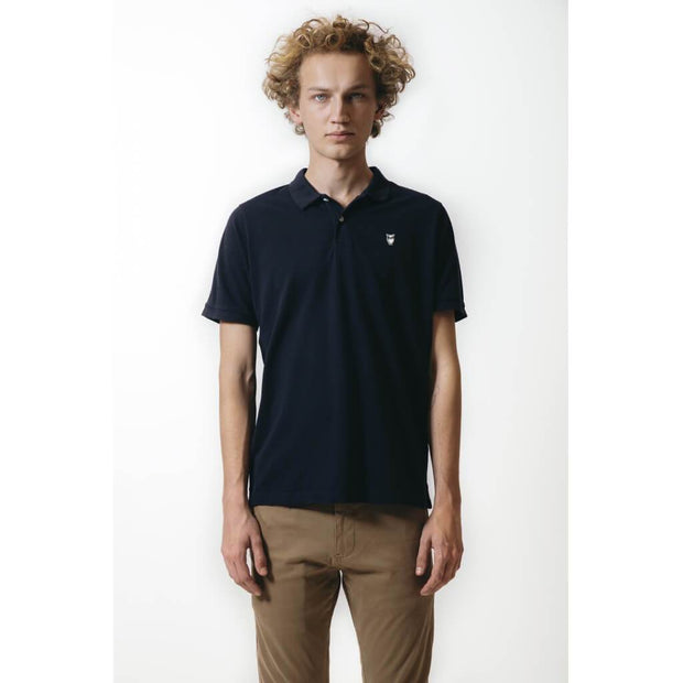 Polo-Coton-Bio-Homme-KnowledgeCotton-Apparel-Noir-Style