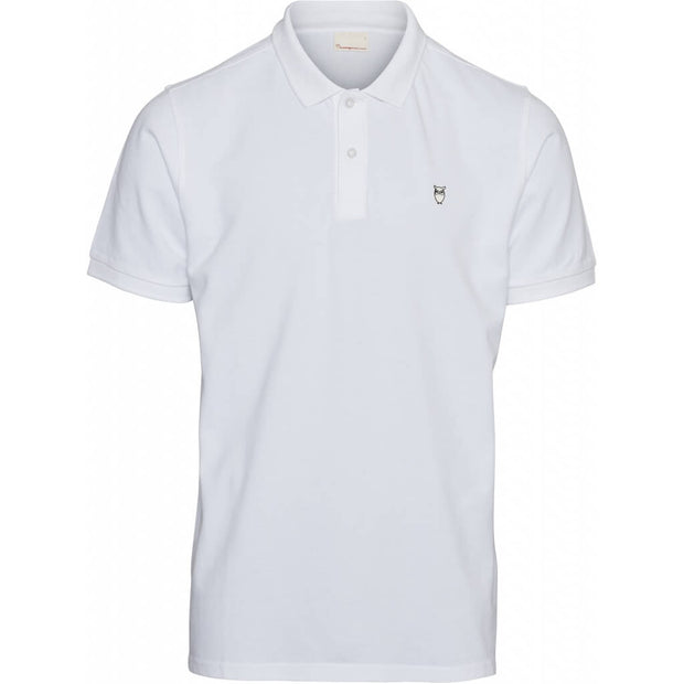 Polo-Coton-Bio-Homme-KnowledgeCotton-Apparel-Blanc