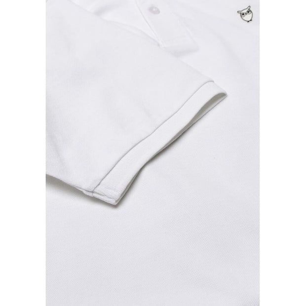 Polo-Coton-Bio-Homme-KnowledgeCotton-Apparel-Blanc-Logo