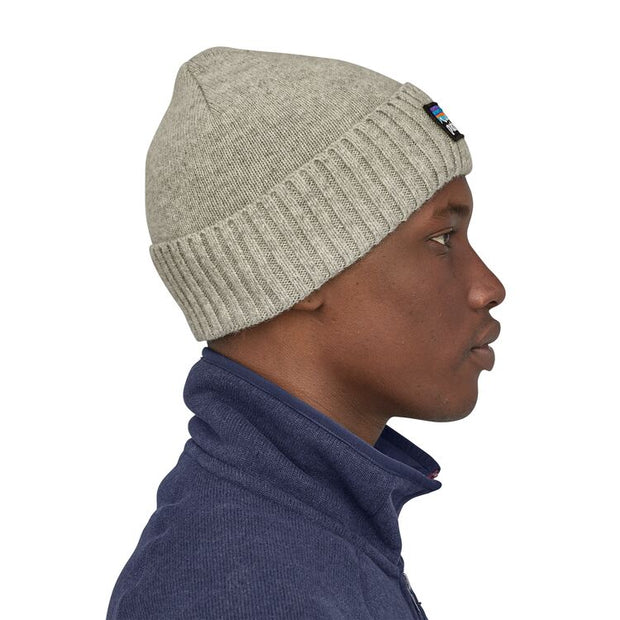 Bonnet Patagonia Brodeo P-6 Logo: Drifter Grey - Echoppe Sauvage