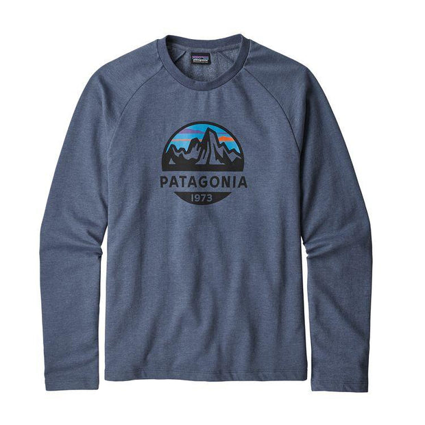 Sweat-Shirt Patagonia M's Fitz Roy Scope LW Crew Dolomite Blue - Echoppe Sauvage
