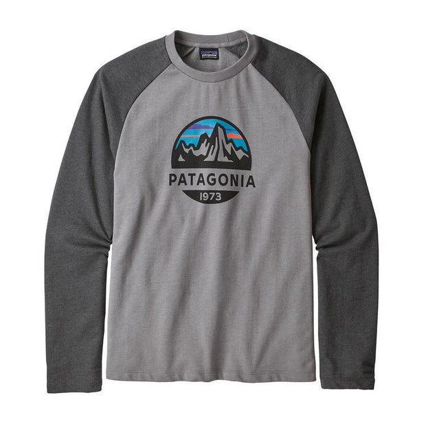 Sweat-Shirt Patagonia M's Fitz Roy Scope LW Crew Feather Grey - Echoppe Sauvage