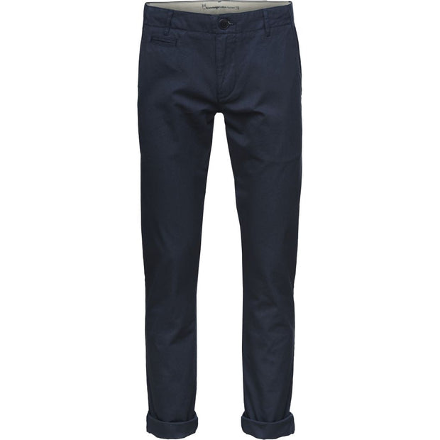 Chino Coton Bio Homme KnowledgeCotton Apparel Bleu - Echoppe Sauvage