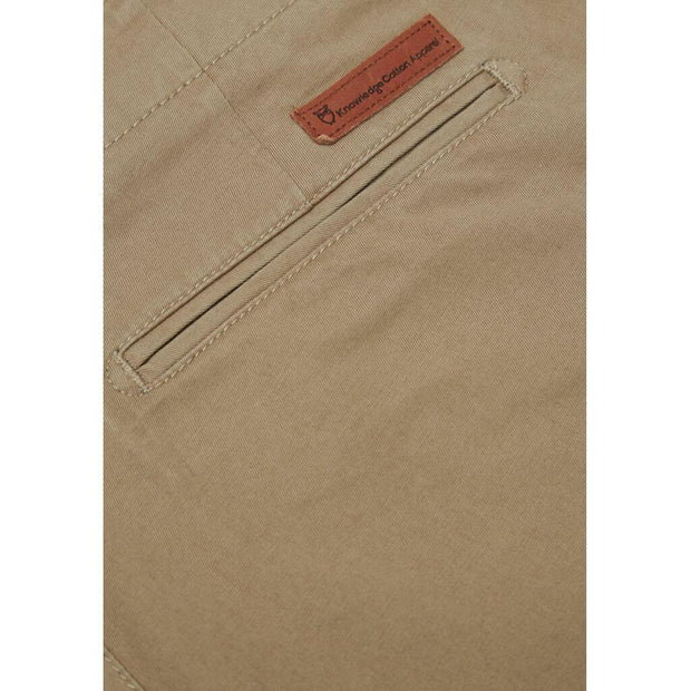 Chino en Coton Bio Homme KnowledgeCotton Apparel Beige - Echoppe Sauvage