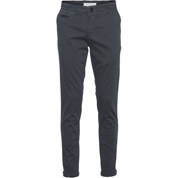 Chino Coton Bio KnowledgeCotton Apparel Joe Slim Total Eclipse - Echoppe Sauvage