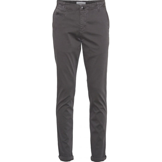 Chino Coton Bio KnowledgeCotton Apparel Joe Slim Phantom - Echoppe Sauvage