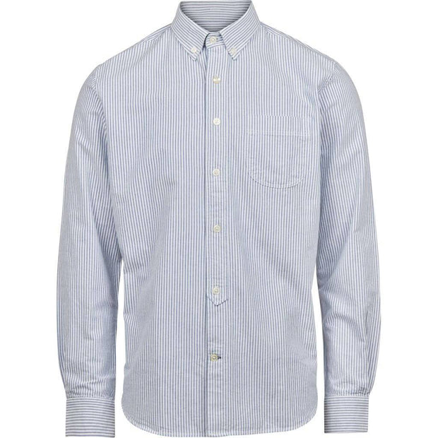 Chemise-Coton-Bio-Homme-KnowledgeCotton-Apparel-Col-Oxford-A-Rayures-Face