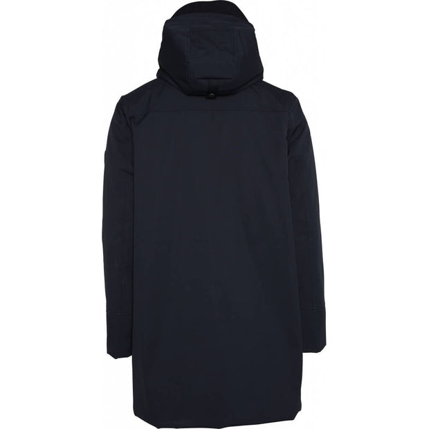 KnowledgeCottonApparel-Manteau-Long-Soft-Shell-Total-Eclipse-Dos