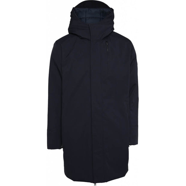 KnowledgeCottonApparel-Manteau-Long-Soft-Shell-Total-Eclipse