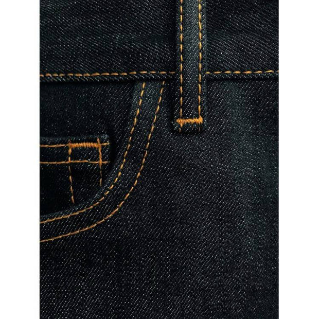 Jean KnowledgeCotton Apparel ASH raw blue selvedge denim - Echoppe Sauvage