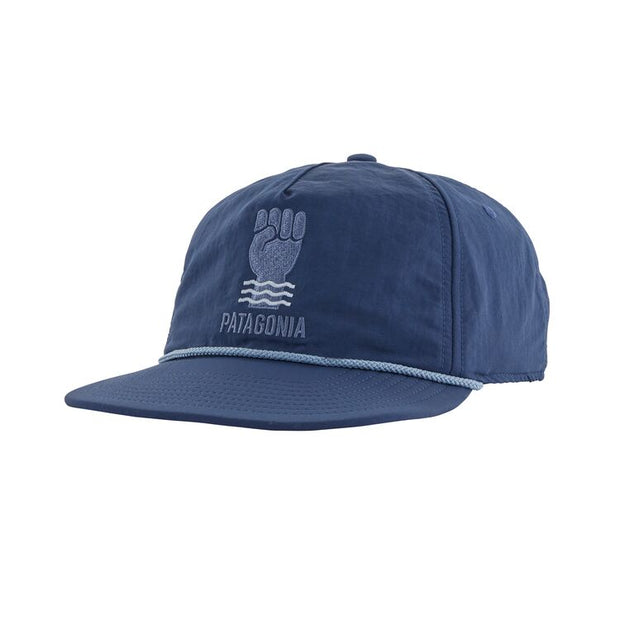 Casquette Patagonia Waterfarer Cap - Keep The Stoke Stoked : Stone Blue - Echoppe Sauvage