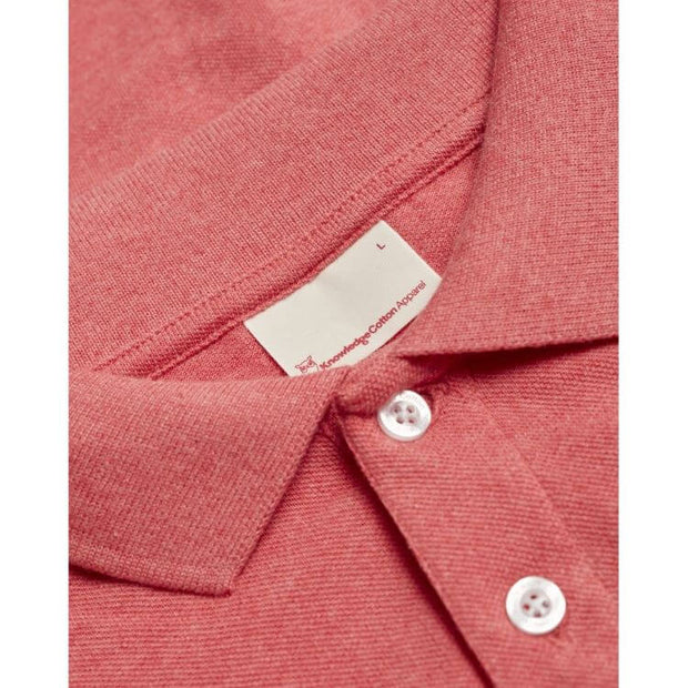 Polo-Coton-Bio-KnowledgecottonApparel-Corail-Zoom