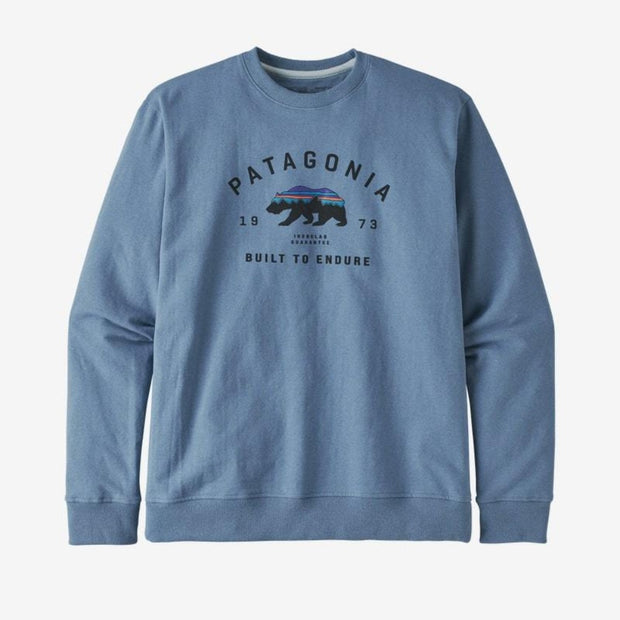 Sweatshirt Patagonia M's Arched Fitz Roy Bear Uprisal Crew Pigeon Blue - Echoppe Sauvage