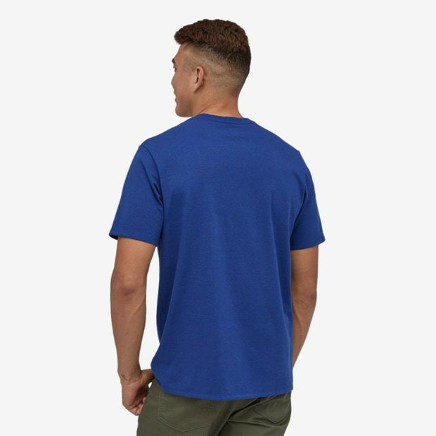 T-Shirt Patagonia M's Label Pocket Responsibili Tee - Superior Blue - Echoppe Sauvage
