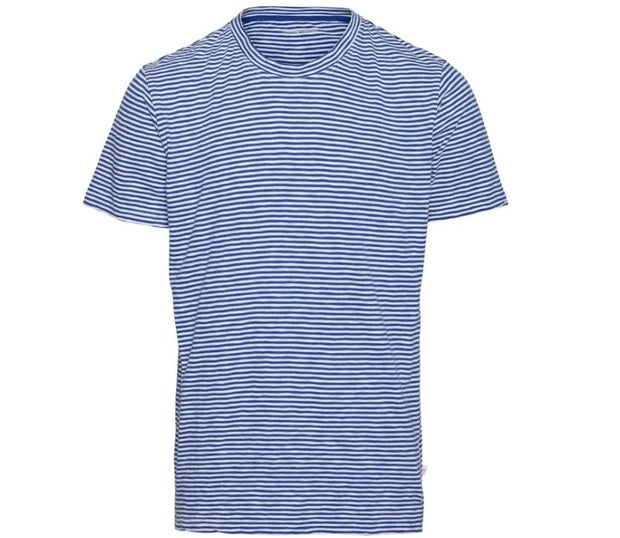 T-shirt KnowledgeCotton Apparel ALDER Narrow Striped Tee - Surf The Web - Echoppe Sauvage
