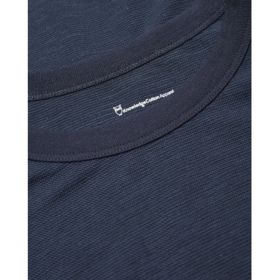 T-shirt KnowledgeCotton Apparel ALDER Tencel Tee - Total Eclipse - Echoppe Sauvage