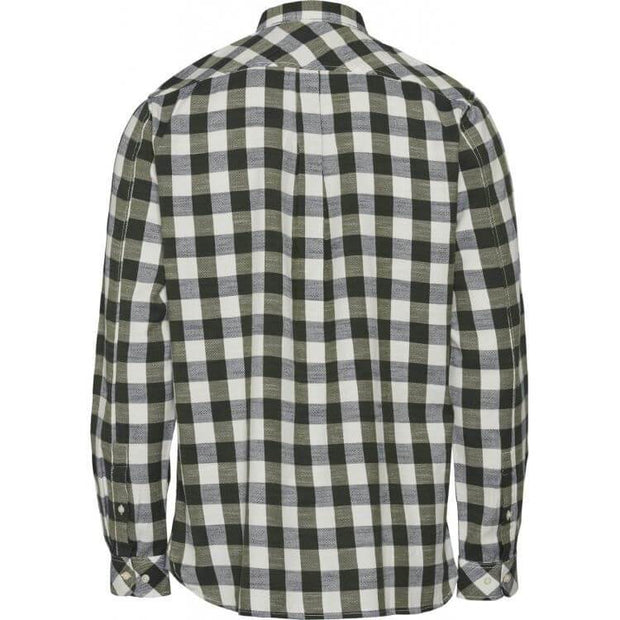 Chemise KnowledgeCotton Apparel Long sleeve checked slub shirt - Echoppe Sauvage