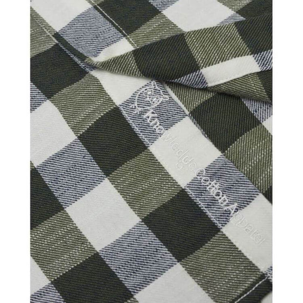 knowledgecottonapparel-long-sleeve-checked-slub-shirt-logo