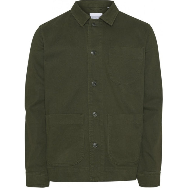 Veste Sur-chemise KnowledgeCotton Apparel PINE Heavy Twill Overshirt - Forrest Night - Echoppe Sauvage