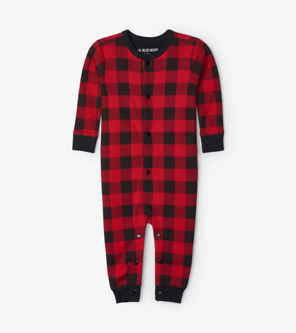 Little Blue House - Moose on Plaid Onesie (Baby)