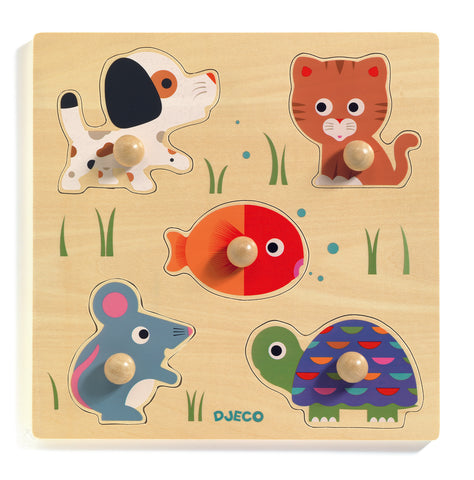 Djeco Bulle & Co wooden puzzle