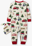 Little Blue House - Country Christmas Baby Body Suit & Hat