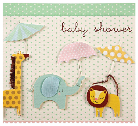 Meri meri - Baby Shower Animals with Umbrellas