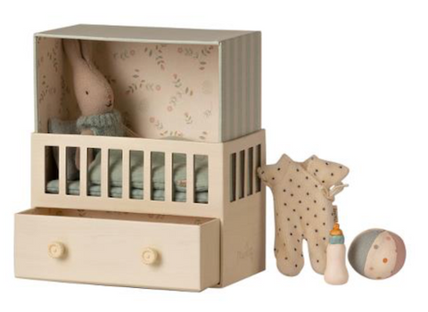 Maileg Baby Room with Micro Rabbit *Preorder