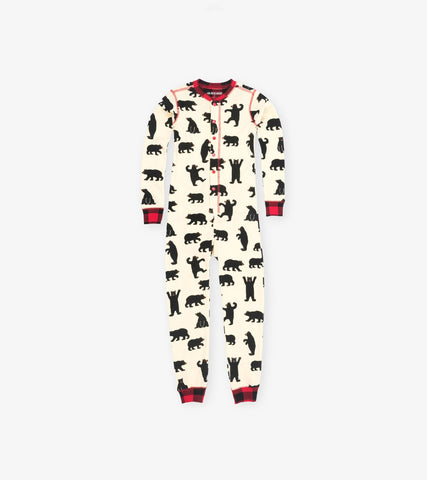 Little Blue House - Black Bear Onesie