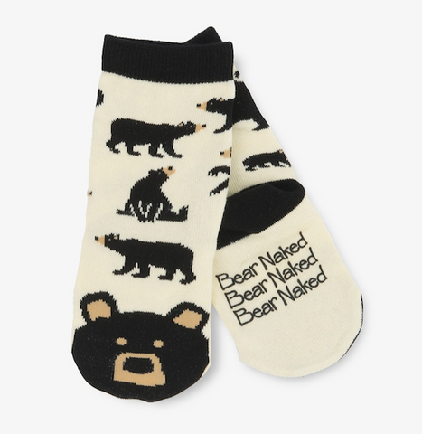 Little Blue House Bear Naked Socks