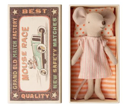 Maileg Big Sister Mouse in Matchbox (Nightdress)