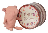 Maileg Birthday Tin With Pig