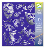 Djeco Diamond holographic scratch art stickers - Blue