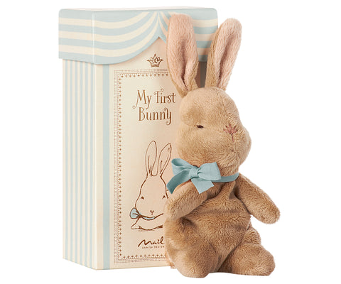 Maileg Bunny in a Box - Blue