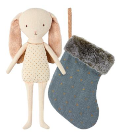Maileg Bunny Angel in Stocking - Blue