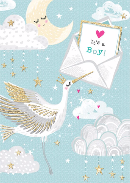 PICCOLO – Baby boy card