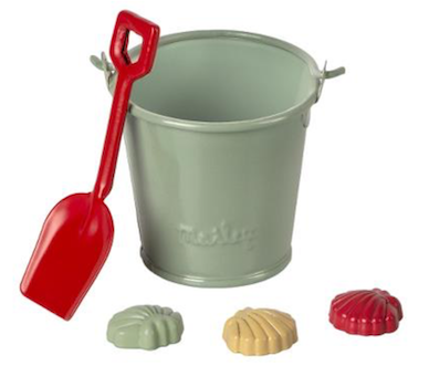Maileg Beach Set - Shovel, Bucket and Shells *Preorder