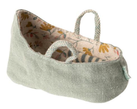 Maileg Baby Carrycot - Dusty Green