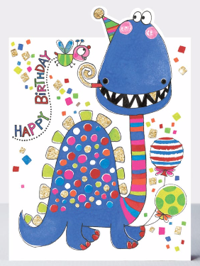 Rachel Ellen - Happy birthday blue dinosaur