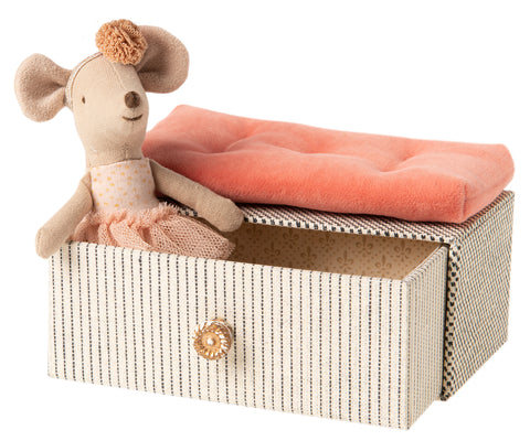 Maileg Little Sister Mouse in Daybed *Preorder