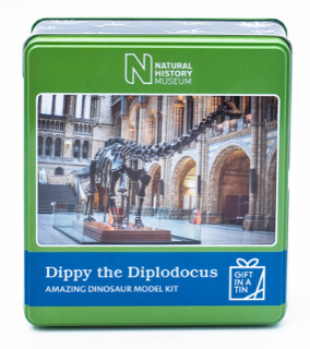 Apples to Pears Natural history museum Dippy in a tin