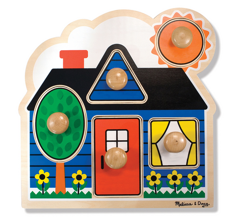 Melissa and Doug First shapes wooden puzzle
