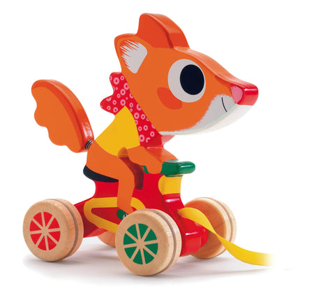 Djeco Fox pull along toy