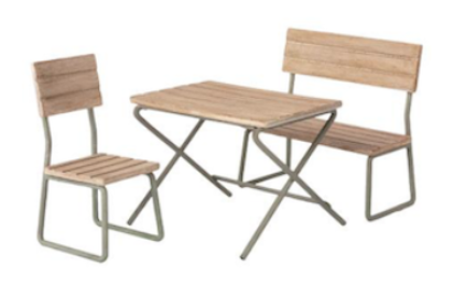 Maileg Garden Set Chair and Bench *Preorder