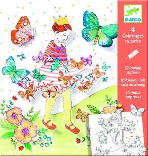 Djeco Colouring surprises - Lady butterfly