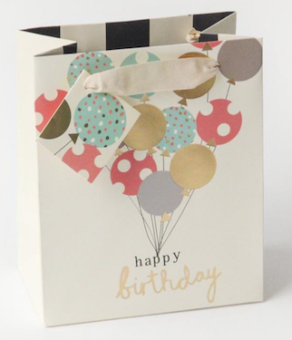 Caroline Gardiner Happy Birthday Balloons Gift Bag