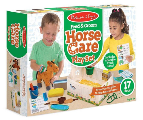 Melissa & Doug Horse feed & groom play set
