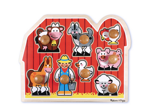 Melissa and Doug First farm friends wooden puzzle