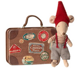Maileg Little Brother Christmas Mouse in Suitcase
